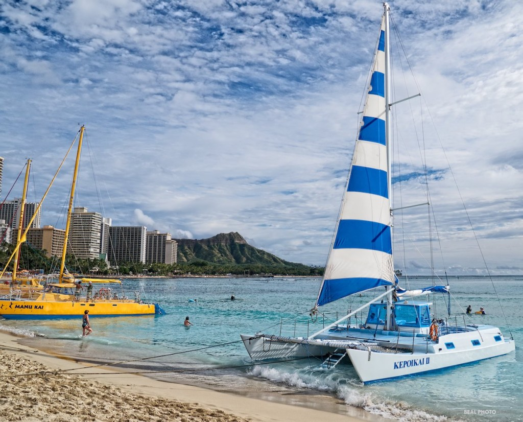 Catamarans at Waikiki Beach