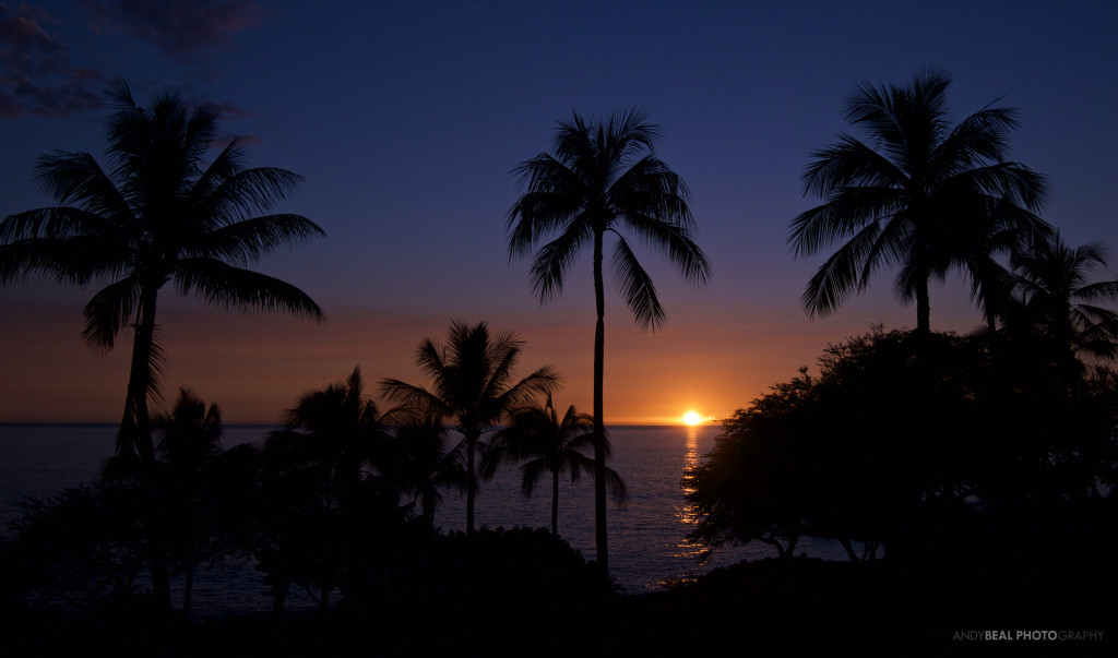 Cool Blue Hawaiian Sunset